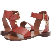 Coach Ankle Strap T Thong Terracotta Leather Sandals Size 7 NIB G2103 - $103.46