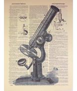 Art N Words Vintage Microscope Original Dictionary Page Pop Art Print - $21.00