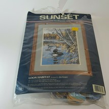 Sunset Loon Habitat Needlepoint Kit Designed By Jim Kasper Open Unused #... - $27.16