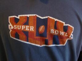 NFL Super Bowl XLIV football hoodie sweatshirt size L  - $29.69