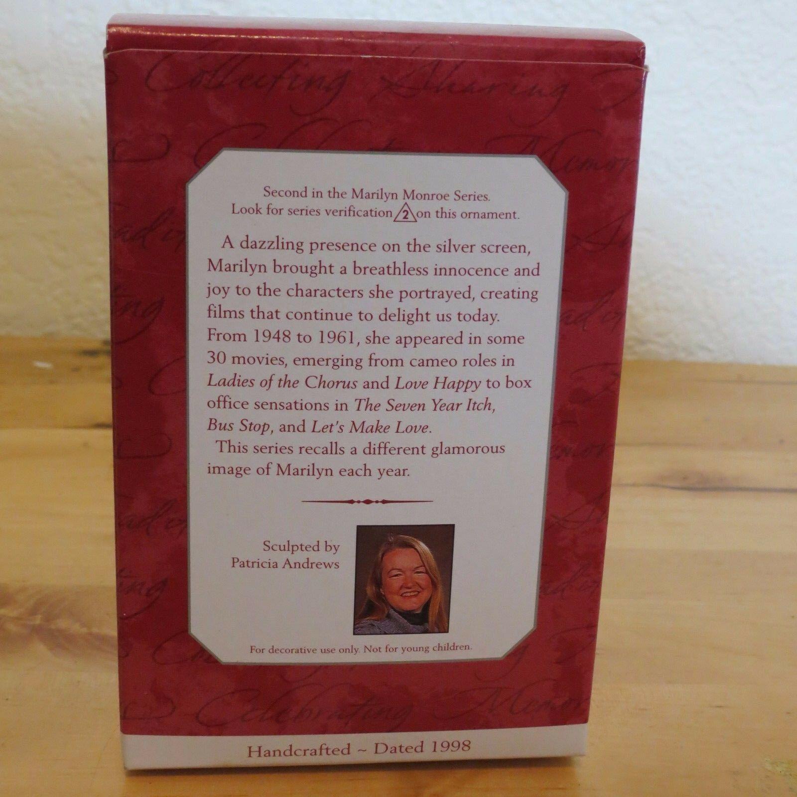 Marilyn Monroe Hallmark Keepsake Ornament 1998  in original box Seven Year Itch image 5