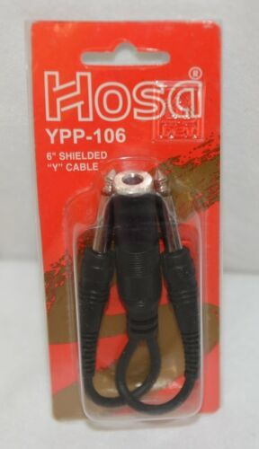 Hosa Technology YPP106 6 Inch Shielded Y Cable Mono Phone Jack To Two Plugs