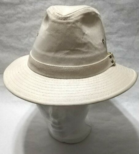 Dorfman Pacific Co. Men's Garment Washed Twill Safari Hat Beige Small, used image 7
