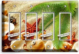 Sea Shell Beach Sand Palm Starfish 4 Gfci Light Switch Wall Plate Bathroom Decor - $19.79