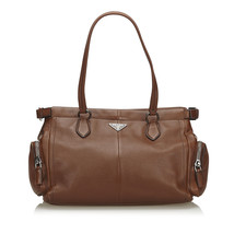 Pre-Loved Prada Brown Others Leather Tote Bag Italy - $452.54