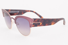 Tom Ford ALEXANDRA Pink Havana / Gray Gradient Sunglasses TF607-74B ALEXANDRA-02 - $224.42