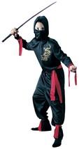Kids Black Ninja Gold Dragon Costume Cosplay Dress Up Large - $9.89