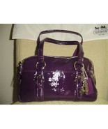 Coach Purple Patent Leather Purse & Wristlet  - $175.00