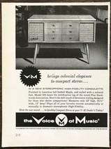 1962 V-M Corp Benton Harbor MI Print Ad Colonial Elegance Compact Stereo - $9.95