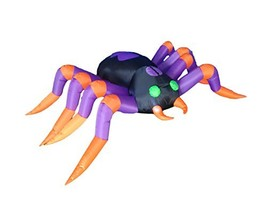 BZB Goods 8 Foot Long Halloween Inflatable Black Purple Spider LED Light... - $86.87