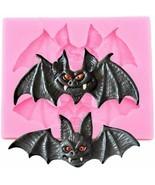 Halloween Bats Silicone Molds Cupcake Topper DIY Baking Fondant Cake Dec... - $10.99