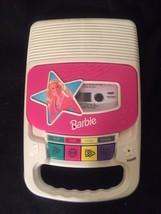 1996 Barbie Mattel Cassette Player w. New Batteries - $23.33