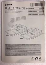 Canon Compact Photo Printer CP710/CP510 User Manual - $6.85