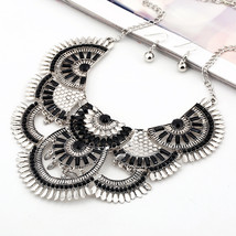 Vintage Statement Chokers Necklaces for Women Bohemian Ethnic Style Maxi Necklac - $18.43