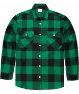 Green Extra Heavyweight Brawny Buffalo Plaid Flannel Shirt - $42.99+