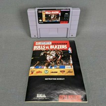 Bulls vs. Blazers and the NBA Playoffs Super Nintendo 1992 SNES with Manual - $9.70