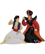 Walt Disney's Aladdin and Jafar Ceramic Salt & Pepper Shakers NEW UNUSED - $24.18