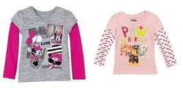 Disney Minnie Mouse Nickelodeon Paw Patrol  toddler girls top Sizes 2T,3... - $10.49