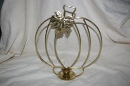 Home Interior Pumpkin Candle Holder Centerpiece Homco - $6.00