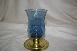 Home Interiors Short Blue Swirl Votive Cup Homco - $4.99