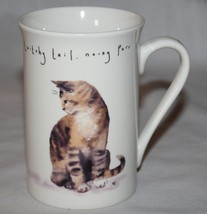 Cat Mug Kent Pottery Butterfly Noisy Purr Meow Fur Twitchy Tail - $12.38