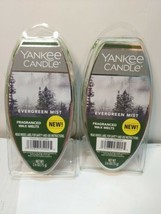 NEW YANKEE CANDLE EVERGREEN MIST FRAGRANCED WAX MELTS 2.6 OZ.- LOT OF 2 ... - $3.96