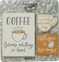 Primitives by Kathy Magnet Set - Coffee Because Adulting Is Hard - $12.87