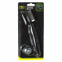 Golf Brush Cleaner Premium by Athletic Works Metal and Synthetic retract... - $10.84