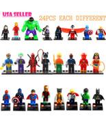 24pcs/Lot MiniFigures Toy Super Heroes Series W... - $25.99
