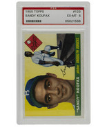 Sandy Koufax 1955 Topps #123 Brooklyn Dodgers Baseball Card PSA EX MT 6 - $3,685.99