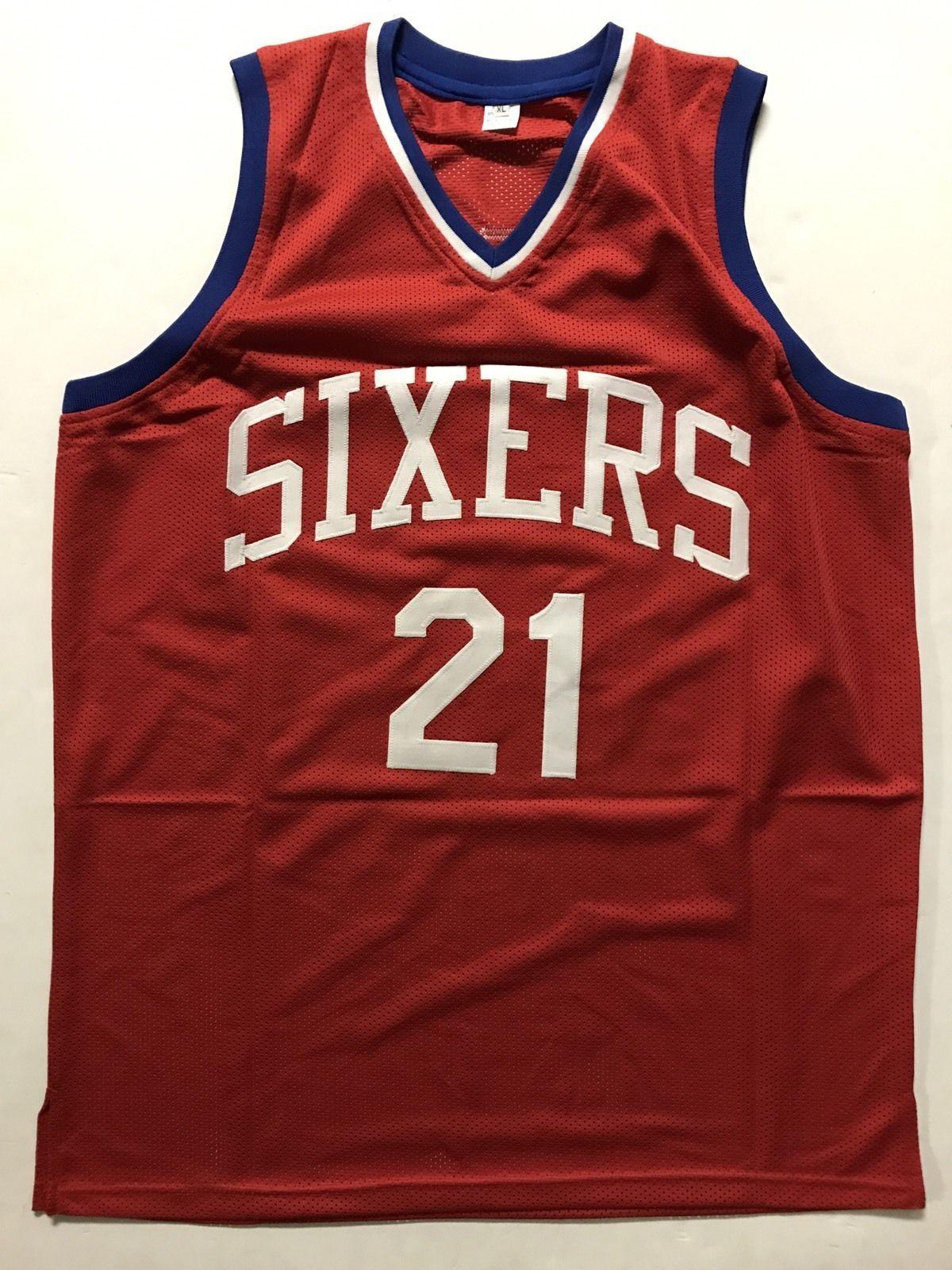 161ae5250c0 Autographed Signed JOEL EMBIID Philadelphia 76ers Sixers Red Jersey JSA COA  Auto