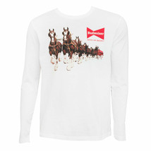 Budweiser Clydesdale Long Sleeve Tee Shirt White - $36.98
