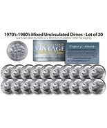 1970's-1980's DIMES Mixed Uncirculated Coins Direct US Mint Cello Packs ... - $10.84