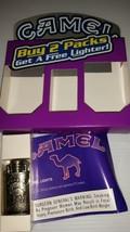 Vintage NOS 1998 Camel Flip Top Table Cigarette Trench Lighter w/Package - $8.90