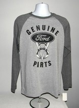 Mens Genuine Ford V8 Parts Baseball T Shirt small gray cotton polyester ... - $21.73