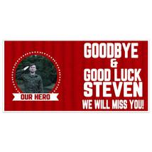 Stars Circle Going Away Good Luck Deployment Military Banner - $22.28+