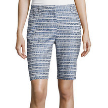 Liz Claiborne Jacquard Walking Shorts Size  6, 14 New Msrp $44.00 - $16.99