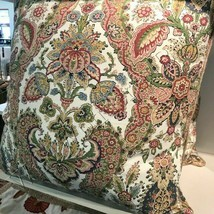 Pottery Barn Florentine Pillow Cover Warm 22 sq Paisley Floral Sham New - $22.78
