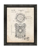Piston Patent Print Old Look with Beveled Wood Frame - $24.95+