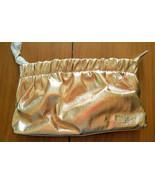 NEW DKNY Donna Karan Cosmetic Gold Metallic Makeup Case Travel Pouch Clu... - $14.99