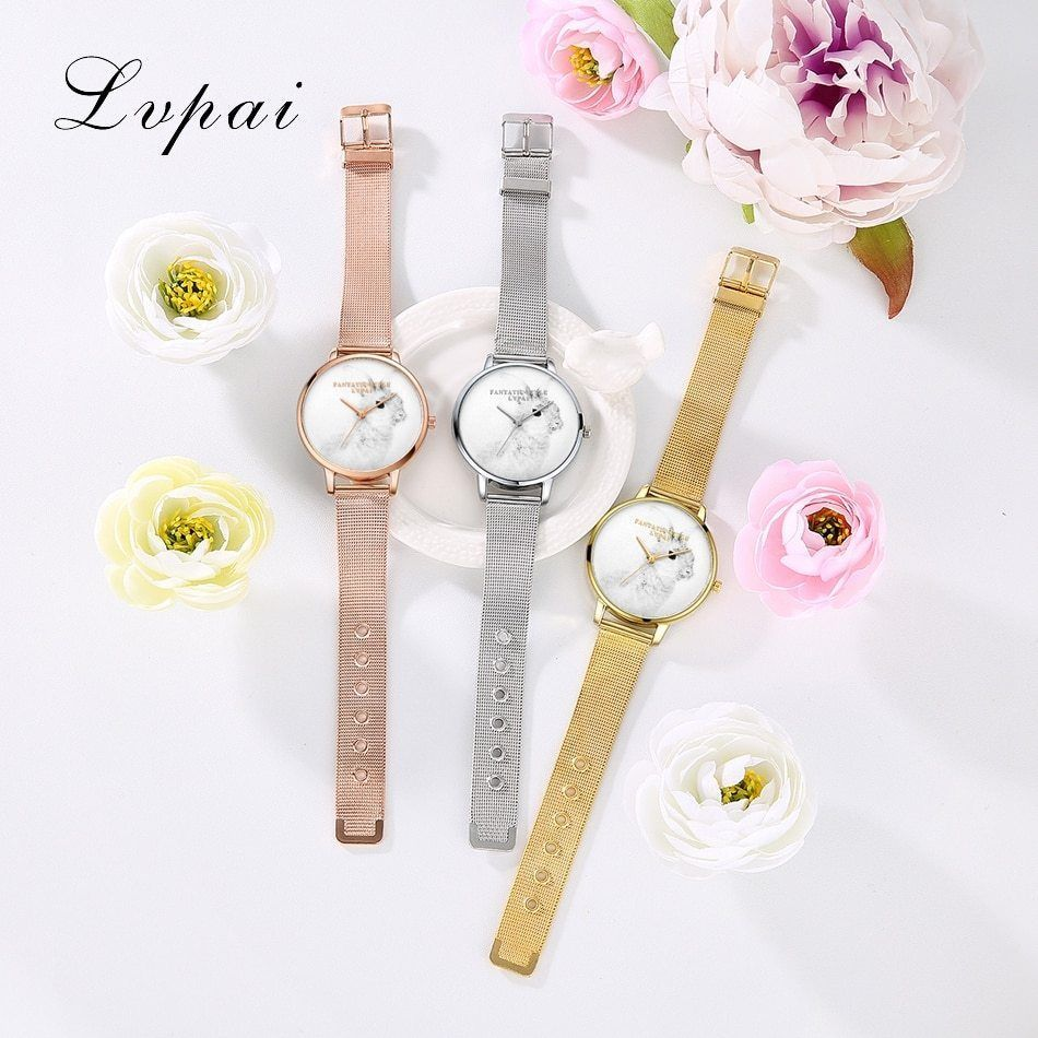Lvpai® Silver Luxury Cartoon Rabbit Dial Quartz Watch Women Fashion Bracelet
