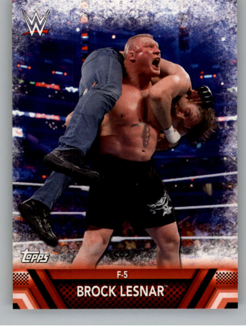 Primary image for 2017 Topps Then Now Forever Finishers and Signature Moves #F-3 Brock Lesnar NM-M