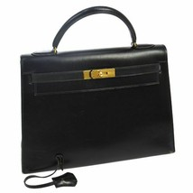 Hermes Kelly 32 hand black box calf RK12650 - $4,781.07