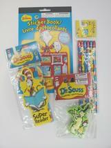 Dr. SEUSS Sticker Pencil Bookmark Sharpener School Supplie Toddler Set of 4 - $13.99