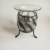 Partylite Bolero P0371 Wax Filled Candle Holder Hand-blown Glass Retired... - $32.31