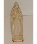 Vintage Saint Theresa Chalk Statue ca1930 - $6.89