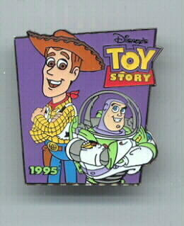 Disney Toy Story 1 Buzz & Woody dated 1995 Rare pin/pin