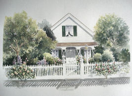 """Doris Olsen """" Wilson House"""" Track Home Artist Proof Print Re - $35.00"""