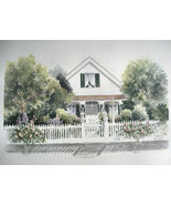 "Doris Olsen "" Wilson House"" Track Home Artist Proof Print Re - $35.00"