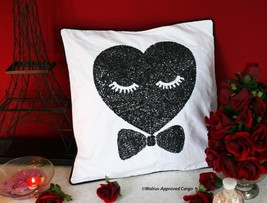 POTTERY BARN TEEN MS. LOVE SEQUIN PILLOW COVER - NWT - SIT WITH FLASHY S... - $49.95